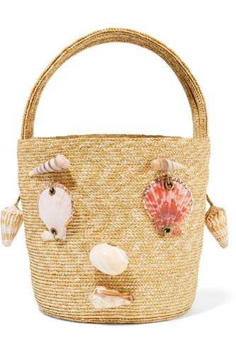 Rosie Assoulin Embellished Woven Straw Tote Sand Usd T7wBB