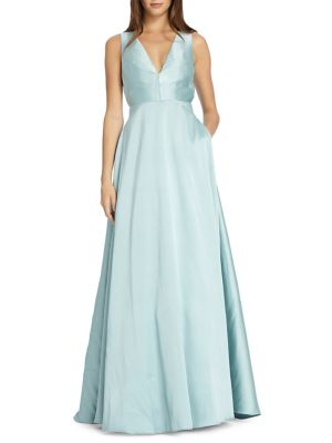 Gown Pleated Lhuillier Evening Sky Monique xtqXYFwR1