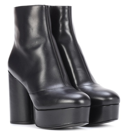 Leather Boots Marc Black Plateau Jacobs Ankle f5q0Iq