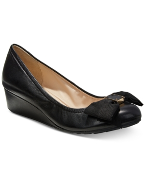 Cole Haan Tali Grand Bow Wedge Pumps Black cqyYdrI
