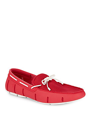 Swims Braided Lace Driving Loafers Red foiCkBI