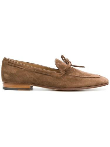 Tod's Bow Trimmed Loafers Brown TfXtMEXXvi