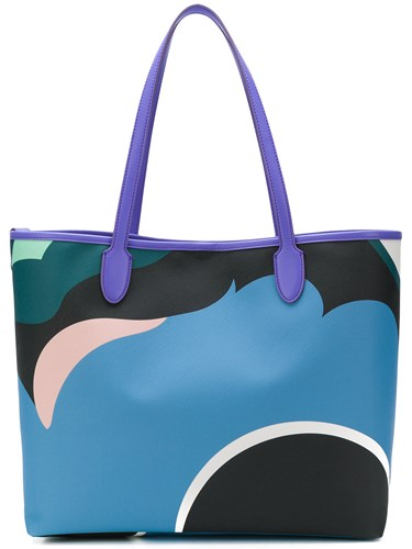 Emilio Pucci Pop Flower Shopper Tote Blue 2bDWi