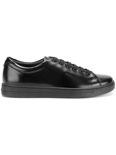 Prada Sneakers Calf Leather Leather Rubber Black p5Yw5RL8