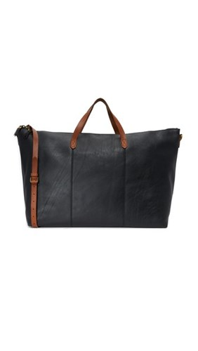Madewell The Transport Weekender Black Z6yICQOw