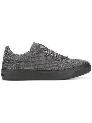 Jimmy Choo Ace Sneakers Leather Rubber Grey 8PPspfk