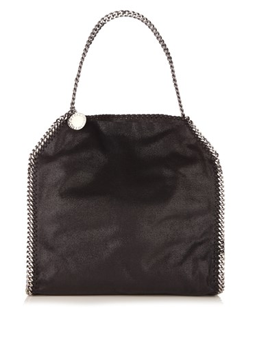 Stella McCartney Falabella Small Faux Suede Shoulder Bag Black YBUacuKrou