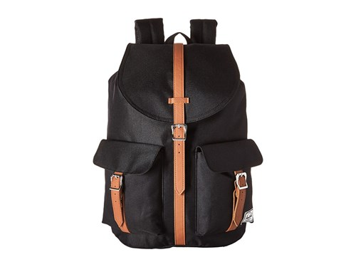 Herschel Supply Co. Dawson Black Tan Synthetic Leather Bags GlmrkSuF