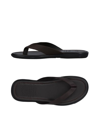 Doucal's Toe Strap Sandals Dark Brown 4P9ey3