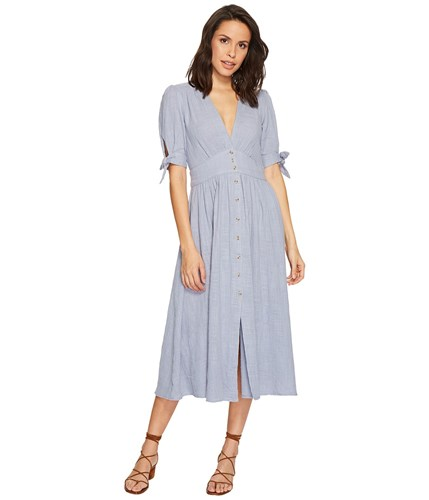 Free People Love Of My Life Blue Dress lpc6VhySd