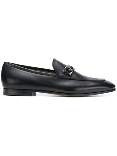 Salvatore Ferragamo Double Gancini Bit Loafers Black IBAge