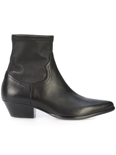 Tamara Mellon Ankle Length Low Heel Boots Black q3Kuun
