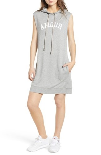 Zadig & Voltaire Sia Bis Hooded Dress Melange Grey CCiyXH2uy