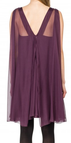 Leon Max Silk Mesh Chiffon Sleeveless Dress 77Njp