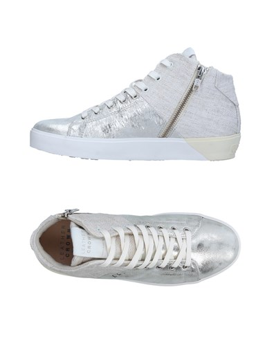 Leather Crown Footwear High Tops And Sneakers Silver MS1c461