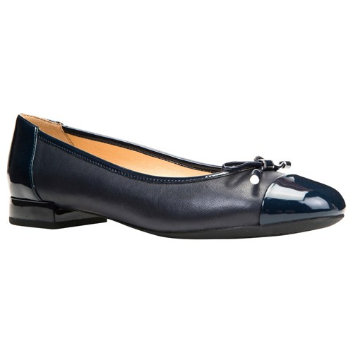 Geox Wistrey Breathable Ballet Pumps Navy 2fuoY