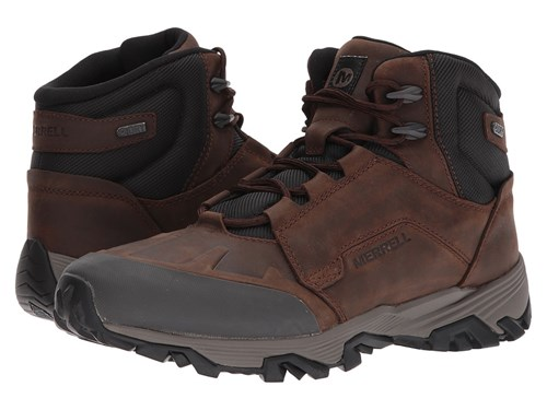 Ice Waterproof Boots Merrell Clay Mid Waterproof Coldpack Tan PCRxOqnH