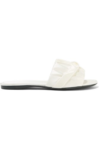 The Row Ellen Ruched Satin Slides White Usd Togm7RD7Xl