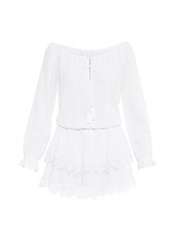 Paolita White Short Lace Trim Dress NwO7AD