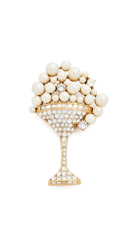 Martini Brooch Cream Antique Gold