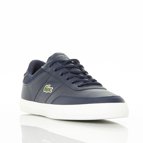 Lacoste Court Master Lace Up Trainers Blue TpH0yxj8R