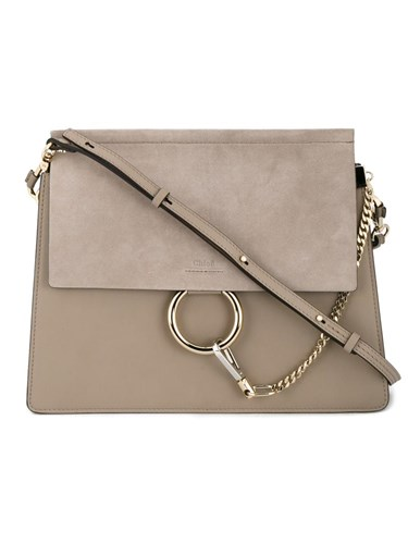 Chloé 'Faye' Shoulder Bag Grey YfNkR