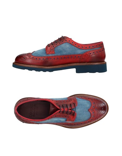 Doucal's Lace Up Shoes Maroon wD9VqFGC