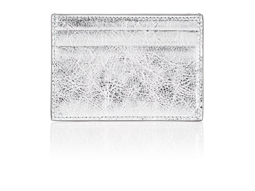 Balenciaga Arena Leather Bazar Card Case Silver AWBKkD