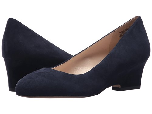 Nine West Jeanery Navy Suede Shoes Blue RmQox