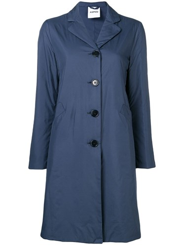 Straight Fit Midi Coat Blue