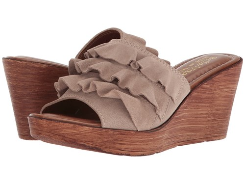 Bella Vita Bey Italy Almond Italian Suede Slide Shoes Tan 7gcLp3