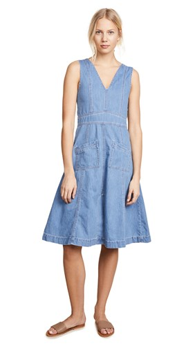 Ryder Aubrey Denim Midi Dress Blue giwD74L9s