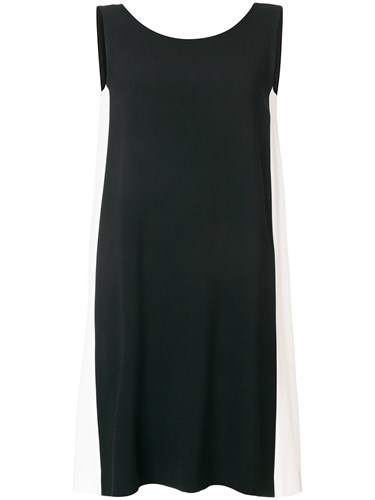 Antonelli Contrast Side Panel Dress Black elZuzePn