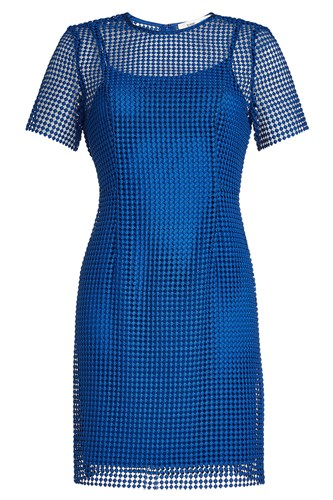 Diane von Furstenberg Dress With Mesh Overlay 0ArrfMy