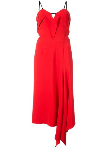 Roland Mouret Fazeley Dress Viscose Acetate Spandex Elastane Red fo8Kt