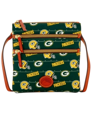 Dooney & Bourke Green Bay Packers Nylon Triple Zip Crossbody CEUVy