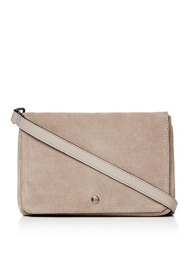 Label Lab Double Pouch Leather Crossbody Grey p4c7WO