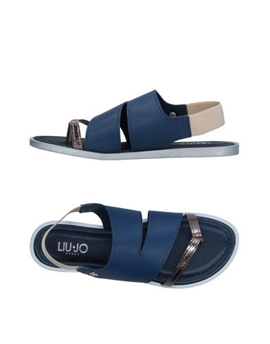 Liu Jo Shoes Toe Strap Sandals Slate Blue T2mFqz