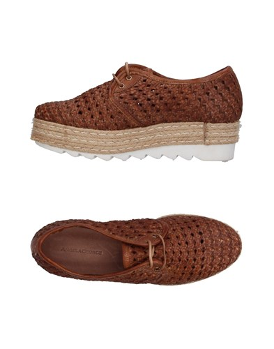 Up ANGELA GEORGE Lace Shoes Brown EEqX7