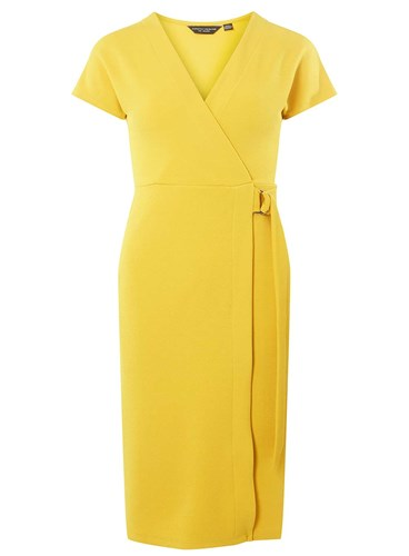 Dorothy Perkins Ochre D Ring Wrap Dress 97ZsrQUPf