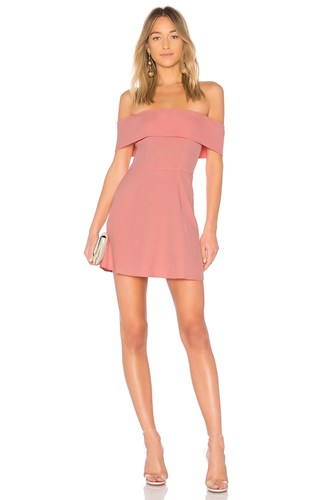 By The Way Way. Aubrey Off Shoulder Dress Pink TmHTXKcY