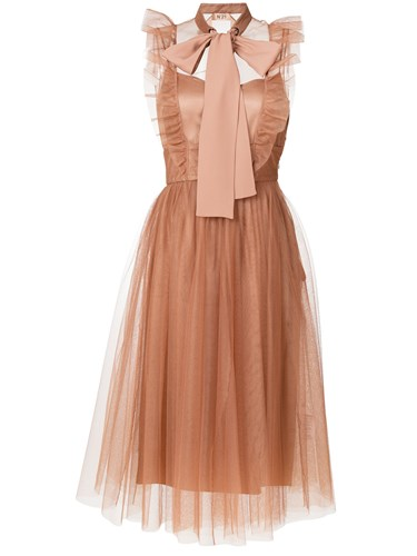 N°21 No21 Pussybow Tulle Dress Nude And Neutrals ifm7K9AzP