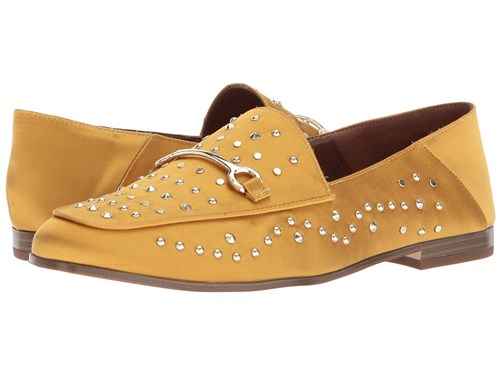 Nine West Westoy Loafer Yellow Satin Shoes SNdyElJvL