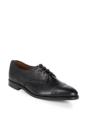 Allen Edmonds Brogue Leather Derbys Black 9IzatR3G