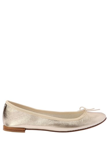 Repetto 10Mm Cendrillon Metallic Leather Flats Light Gold Xp4t6N2
