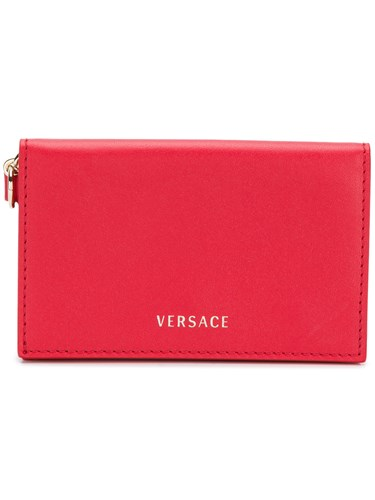 Versace Foldover Card Case Red ME3a6k