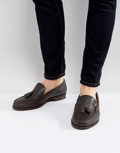 Loafers In Leather Tassel Brown Sherman Ben Brown 4EO6Eq