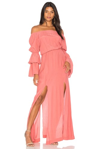 SWF Maddy Maxi Dress Coral ustXNv