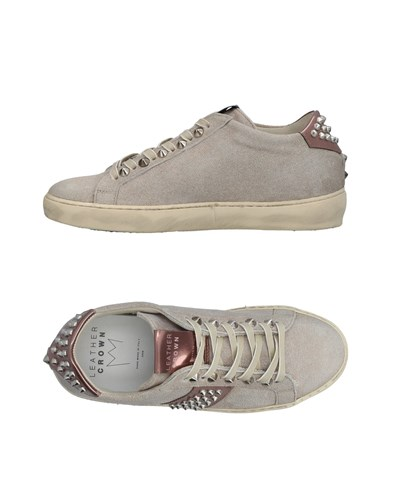 Beige Crown Leather Sneakers Crown Leather 6f6q8Z