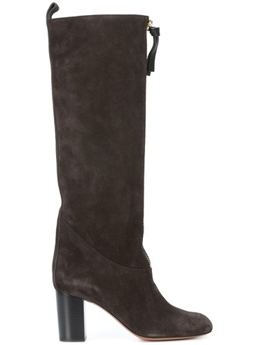 Knee High Boots Black Zipper Chloé wC4qXgO